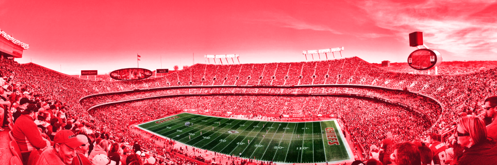 photograph of arrowhead stadium for the kansas city chiefs